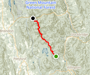 Long Trail: South Park Rd to Brandon Mountain Rd Map