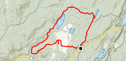 Charcoal Burners, Cabot, and Perkins Trail Loop Map