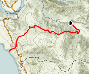 Pomo Canyon Trail to Shell Beach Map