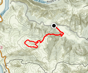 Pomo Canyon Trail to Red Hill Map