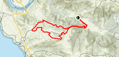 Pomo Canyon and Red Hill Loop Map