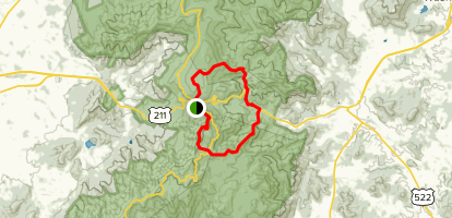 Appalachian Trail and Pass Mountain Trail Loop Map