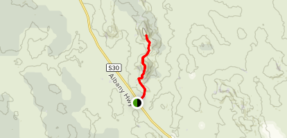 Mount Vincent and Mount Cuthbert via Bibbulmun Track Map