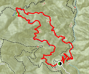 Upper and Lower Winter Creek Trail Loop Map
