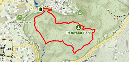 Redwood Forest Walk and Eagle's Nest Trail to Redwood Bridge Trail Map