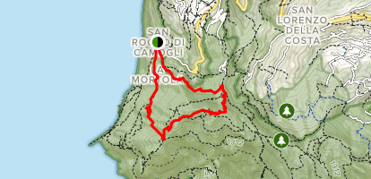 Monte di Portofino Loop Map