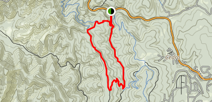 West Ridge to Otero Canyon Trail  Map