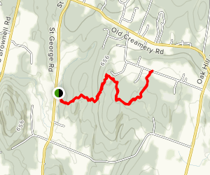 Sucker Brook Hollow and Five Tree Hill Trail Map