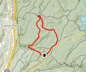 Pound Mountain and Dater Mountain Trail  Map