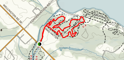 Guelph Lake MTB Trails: Grand Trunk, South Park, Homestead Loop Map