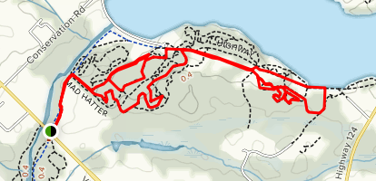 Guelph Lake MTB Trails: Grand Trunk, Monkey Wrench, Hell's Kitchen, South Park Loop Map