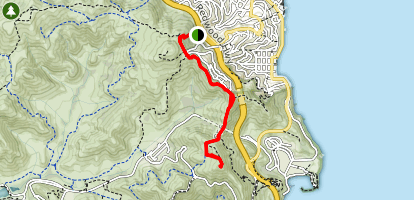 Slacker Hill via Morning Sun and SCA Trail  Map