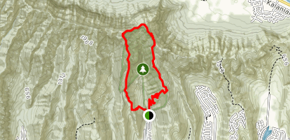Kuliouou Ridge Loop Trail Map