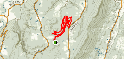 Five Points Recreation Area Loop from Ascalon Trailhead Map