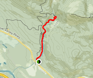 Johnston Canyon Trail to Upper Falls Map