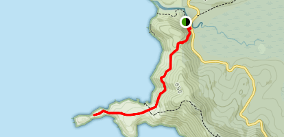 Tongue Point Track Map