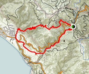 Dipsea Steep Ravine Matt Davis Loop Trail from Pantoll Map