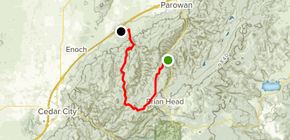 Dry Lakes and High Mountain Scenic Backway Map