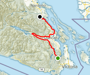 Trans Canada Trail: Cowichan Valley Map