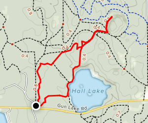 Graves Hill Overlook, Devil's Soup Bowl and Hall Lake Loop  Map