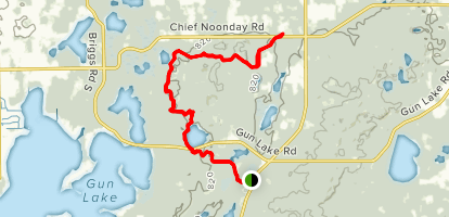 North Country Trail: Yankee Springs Segment Map