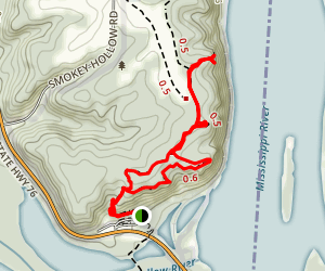 Little Bear and Great Bear Mound Group to Twin Views and Eagle Rock Loop Map