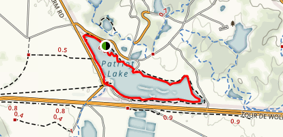Hyde Lake Loop Map