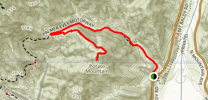 Potato Mountain Wilderness Trail Map