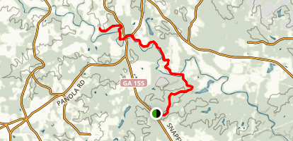 Panola Mountain Visitors Center Spur Path Trail to South River Path Trail Map