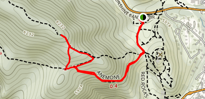 Red Rocks and Anemone Trail Loop Map
