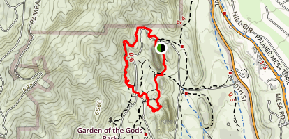 Palmer, Upper Loop, and Central Garden Trail Loop Map