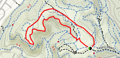 Yucca, Mesa and Edna Mae Bennet Nature Trail Loop Map
