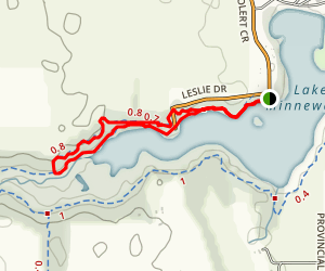 Willow and Deadwood Loop Map