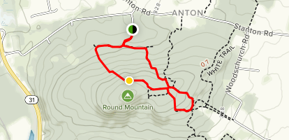 Unblazed and White to Buell Trail (Orange) Map