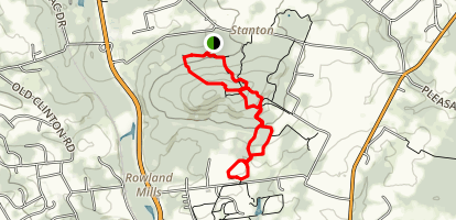 Unblazed and White to Buell Trail (Orange) Long Loop Map
