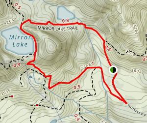 Mirror Lake to Pacific Crest Trail  Map