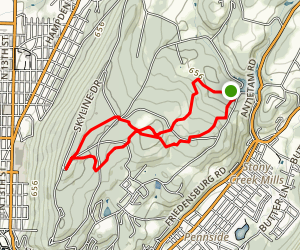 Antietam Lake to Mount Penn Loop via Ferndale and Gravity Trails Map