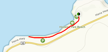 Ho`okipa Beach Walk Map
