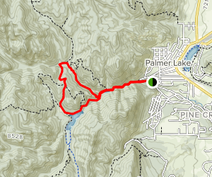 La Deux Reservoirs Trail to Ice Cave Creek Loop Map