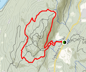 Red Mountain Trail Network: Access 12, Valley View, Red Rider, Momentum Loop Map