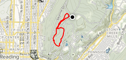 Tower Trail and Ferndale Trail Loop Map