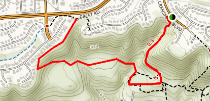 Rattlesnake, Zote's Cutacross to Jack's Hat Trail Map