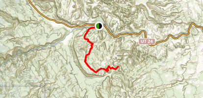 Cohab Canyon to Frying Pan Trail  Map
