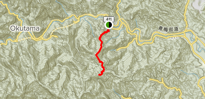 Mount Mitake Map