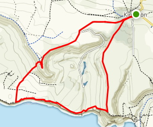 Egmont Point and Swyre Head via Kingston Map