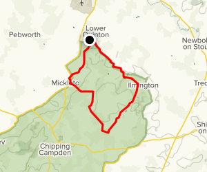 Upper Quinton Circular Walk Map