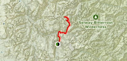 Red Metals and Wilson Mine and Profile Summit Map