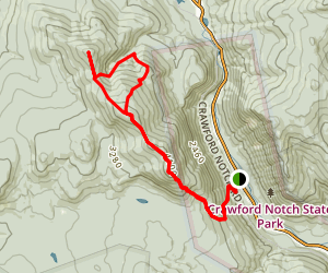 Mount Avalon and Mount Tom via Willey Range Trail  Map