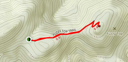 Fuzzy Top Trail Map