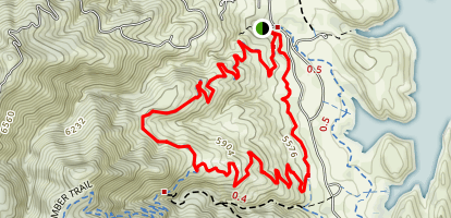 Timber Trail, Kimmons Trail and West Valley Trail Loop Map